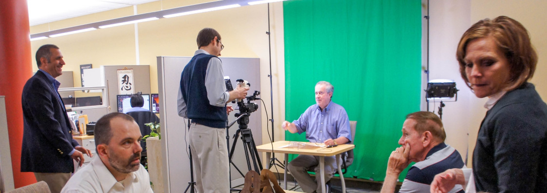 Accounting faculty green screen blitz