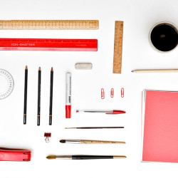 Design Supplies Laid Out