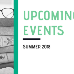 Upcoming Events, Summer 2018