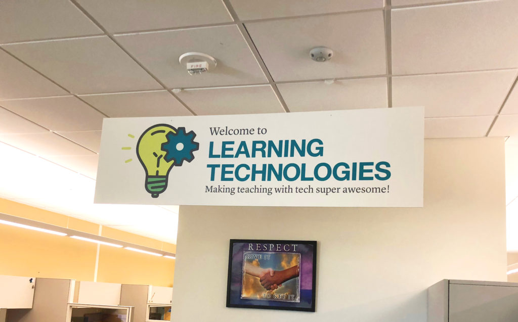 Learning Technologies Sign