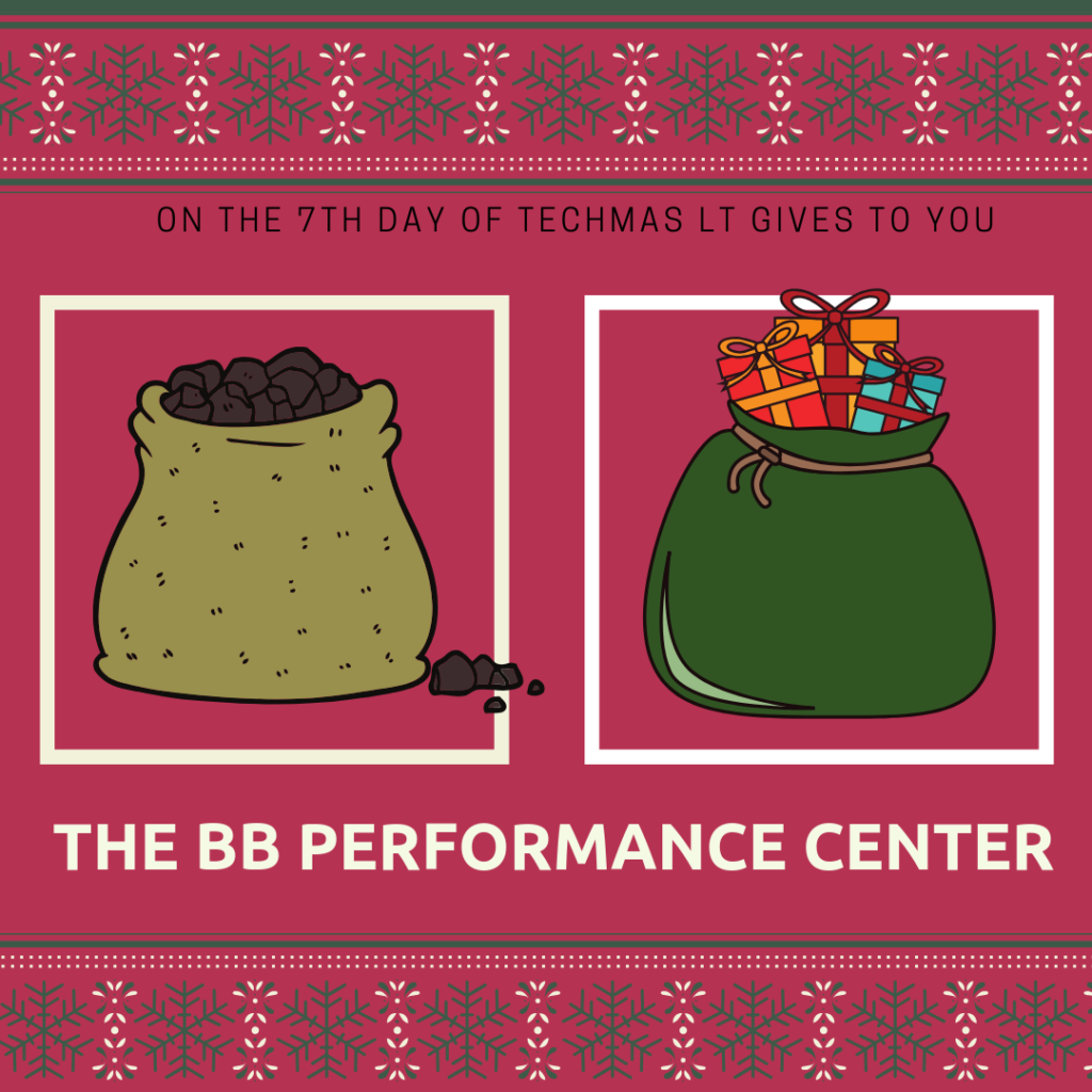 On the 7th day of Techmas, Learning Technologies gives to you The Blackboard Performance Center