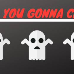 Who You Gonna Call? With three ghosts shrugging