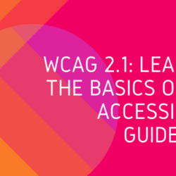 WCAG 2.1: Learning the Basics of Web Accessibility Guidelines