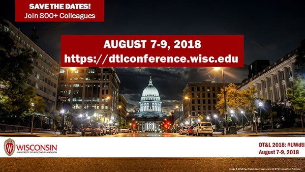 DTL Conference 2018, Madison, WI