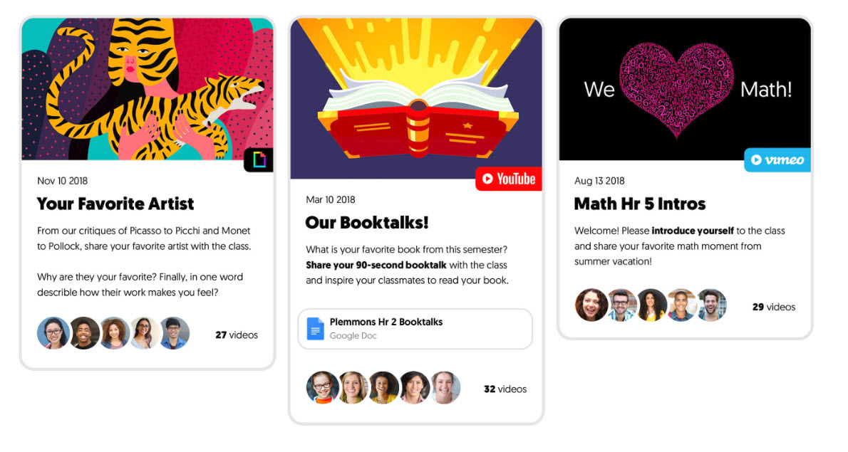 Examples of Flipgrid discussion questions