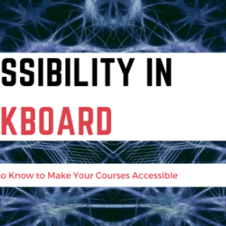 Accessibility in Blackboard