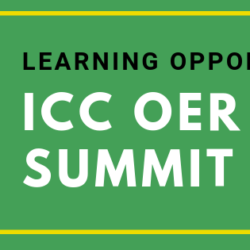 Learning Opportunity: ICC OER Summit 2018