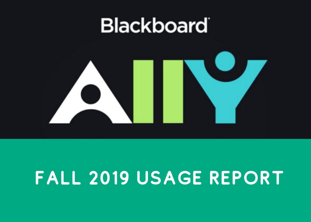 Blackboard Ally Fall 2019 Usage Report