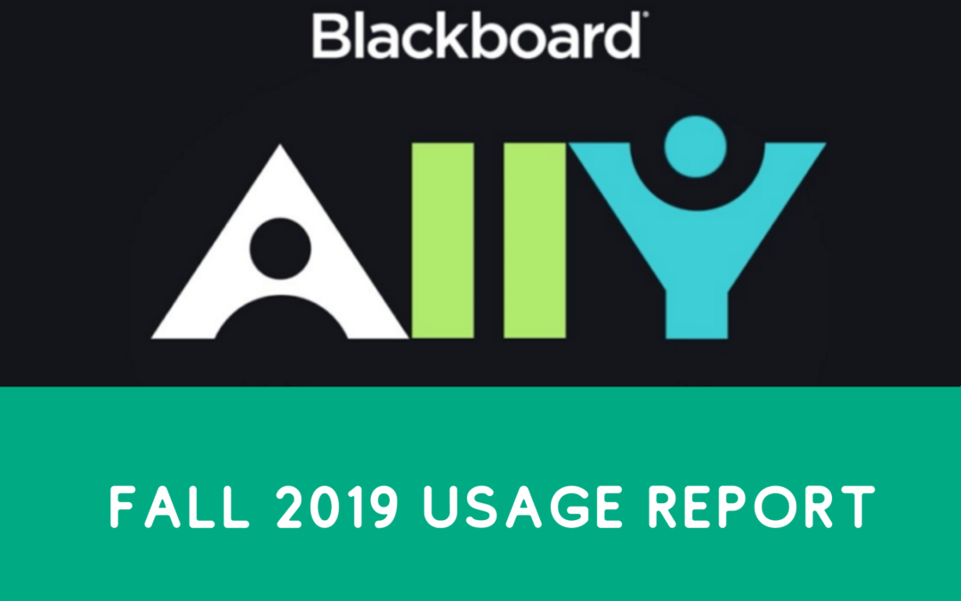 Ally Usage Report for Fall 2019