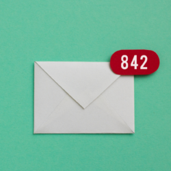 envelope icon for inbox with 842 new emails