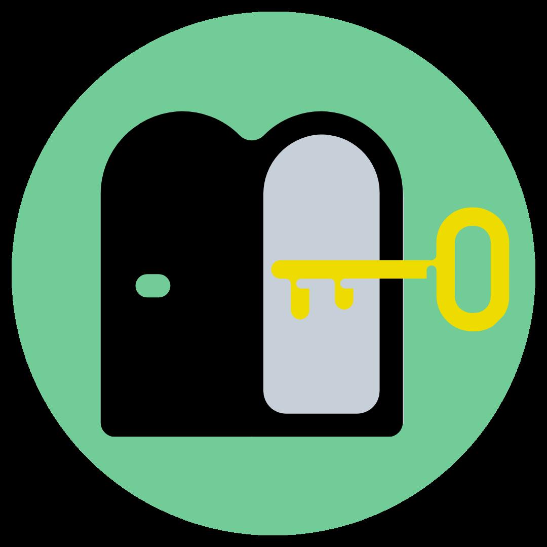 key and door