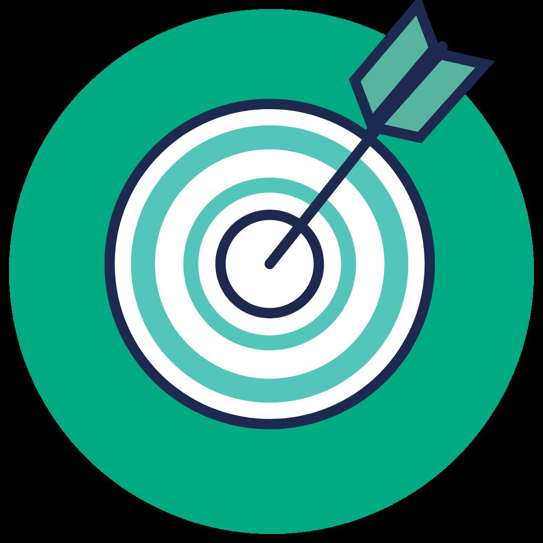 target with arrow at bullseye