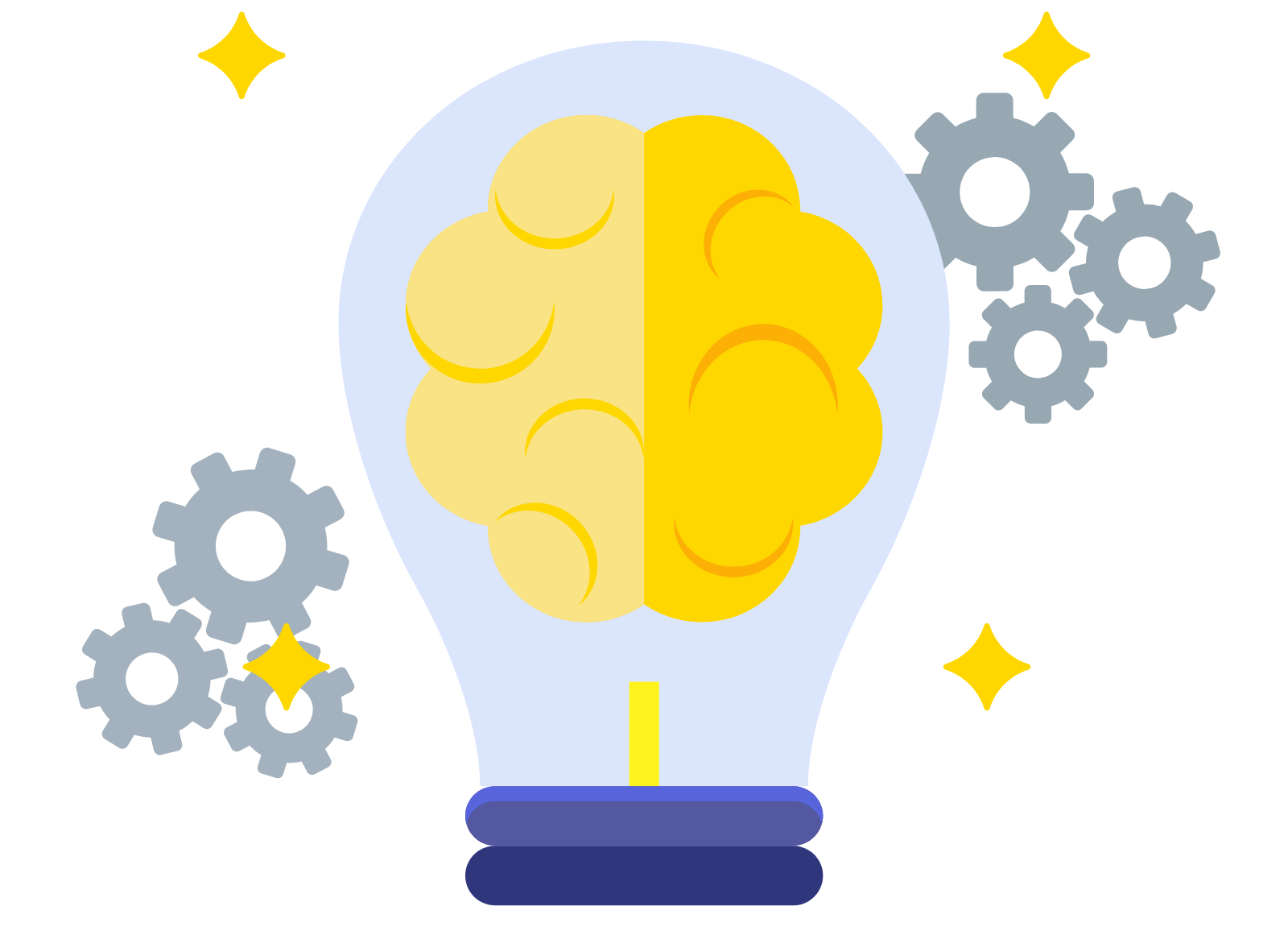 lightbulb with gears