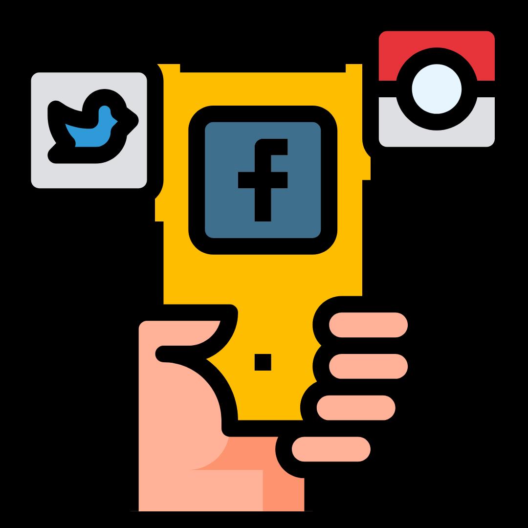 social media on phone