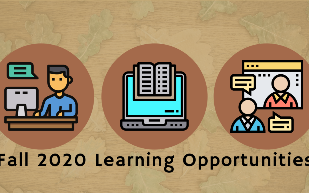 Fall 2020 Conferences, Webinars, Courses, and Events